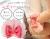 【親子お揃いプレゼント】ピンクシフォンとピンクリボン子ベビーシュシュラトル【出産祝い/誕生日/記念】メイン