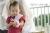【親子お揃いプレゼント】ピンクシフォンとピンクリボン子ベビーシュシュラトル【出産祝い/誕生日/記念】メイン1