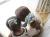 【親子お揃いプレゼント】ピンクドットグリーンとブルーリボンシュシュ【出産祝い/誕生日/ジュメル神戸/記念】お揃い画像
