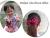 【親子お揃いプレゼント】ピンクレッドとチョコブラウンリボンのママシュシュ【出産祝い/誕生日/ジュメル神戸/クリスマス】アレンジ
