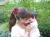 【親子お揃いプレゼント】ピンクレッドとチョコブラウンリボンのママシュシュ【出産祝い/誕生日/ジュメル神戸/クリスマス】アレンジ2