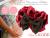 【親子お揃いプレゼント】ピンクレッドとチョコブラウンリボンのベビーシュシュ【出産祝い/誕生日/ジュメル神戸/クリスマス】メイン