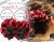 【親子お揃いプレゼント】ピンクレッドとチョコブラウンリボンのママシュシュ【出産祝い/誕生日/ジュメル神戸/クリスマス】m