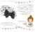 親子お揃い(ペアヘアアクセサリー)専門店ジュメルホワイトシフォン黒ドットのベビーラトル【出産祝い/誕生】メイン1