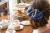 【親子お揃いプレゼント】ネイビーとボーダーネイビーリボンのママシュシュ【出産祝い/誕生日/ジュメル神戸/クリスマス】画像1