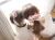 【親子お揃いプレゼント】ピンクレースとピンクリボンシュシュ【出産祝い/ペア/誕生日/ジュメル神戸】着用