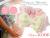 【親子お揃いプレゼント/高級シュシュ】ピンクツイードと白ドットリボンのベビーシュシュ【出産祝い/ペア/誕生日/ジュメル神戸】メイン