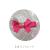 【親子お揃いプレゼント】ジュメル神戸ファーストベビースワロフスキー付ヘアクリップ【誕生日/可愛い/国産/日本製】ピンクレッド