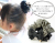 親子お揃いシュシュ(ペアヘアアクセサリー)専門店ジュメル格子ブラックサテンガールズ【出産祝い/誕生日/妻/クリスマス】メイン1