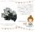 親子お揃い(ペアヘアアクセサリー)専門店ジュメルツイードブラックドットリボンベビーラトル【出産祝い/誕生日/記念】メイン 1