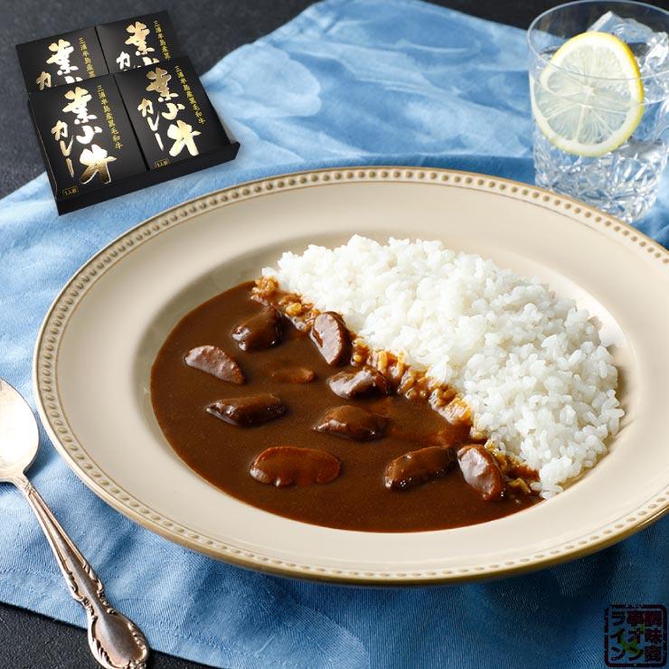 神奈川県産黒毛和牛 葉山牛カレー レトルトカレー 中辛 210g×4食 化粧箱入り 1セット かながわブランド認定