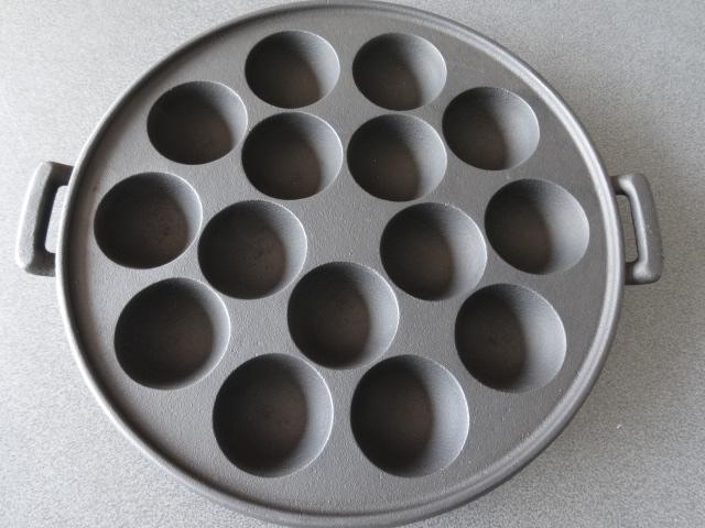 鉄鋳物たこやき一番15穴(たこ焼き器)