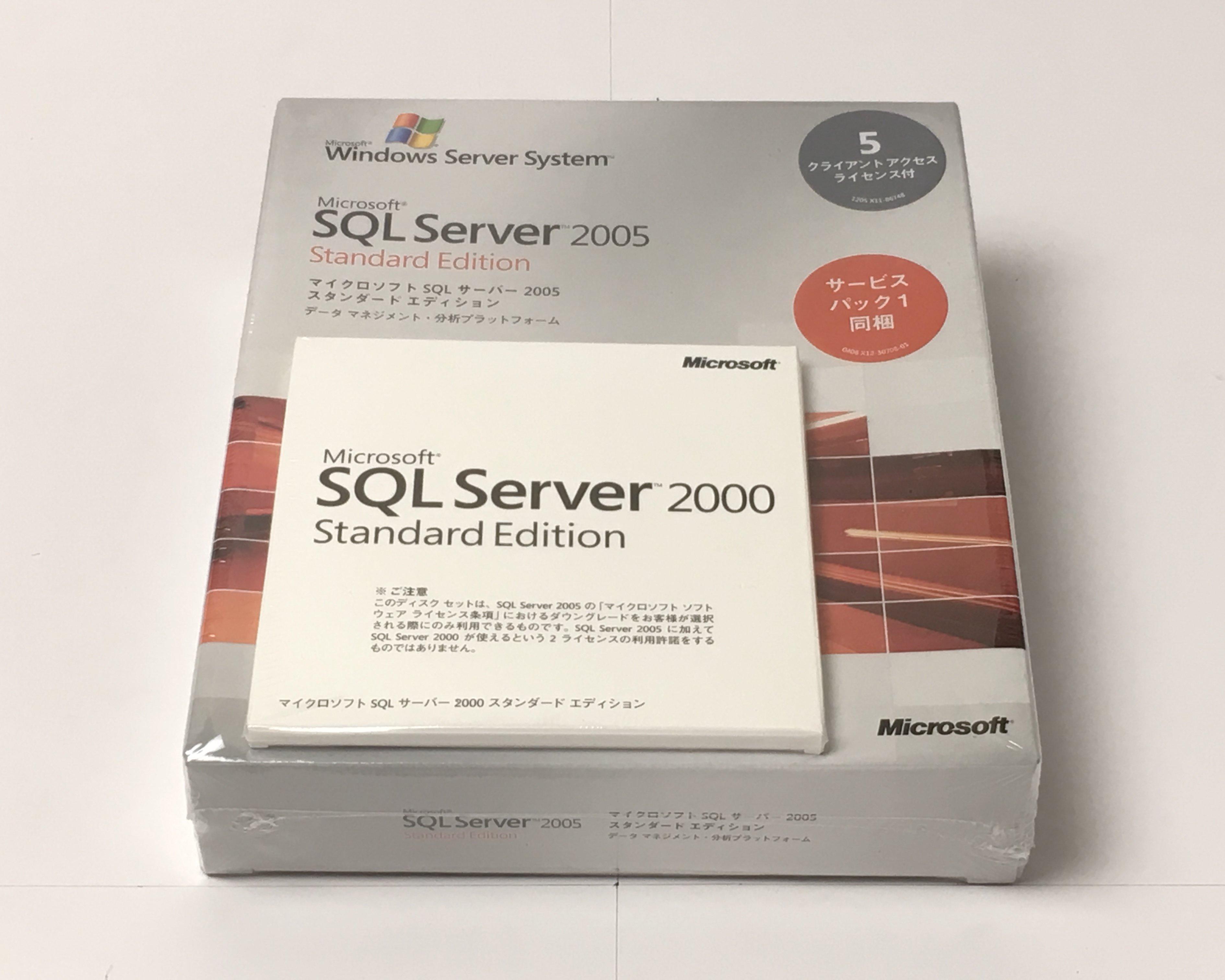 【新品】Microsoft SQL Server 2005 Standard Edition 日本語版 5CAL付き メイン画像