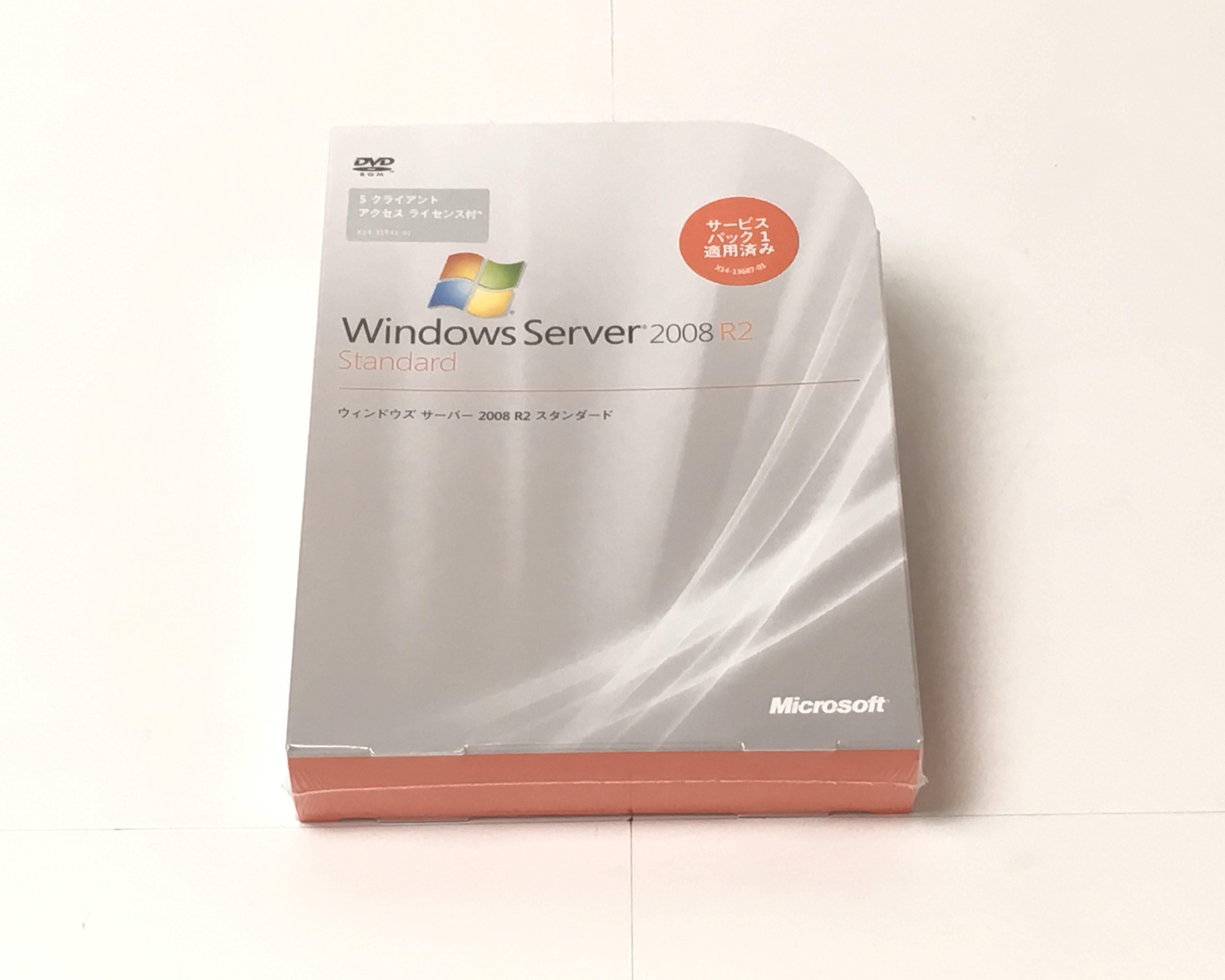【新品】Microsoft Windows Server 2008 R2 Standard (5 クライアント アクセス ライセンス付) メイン画像