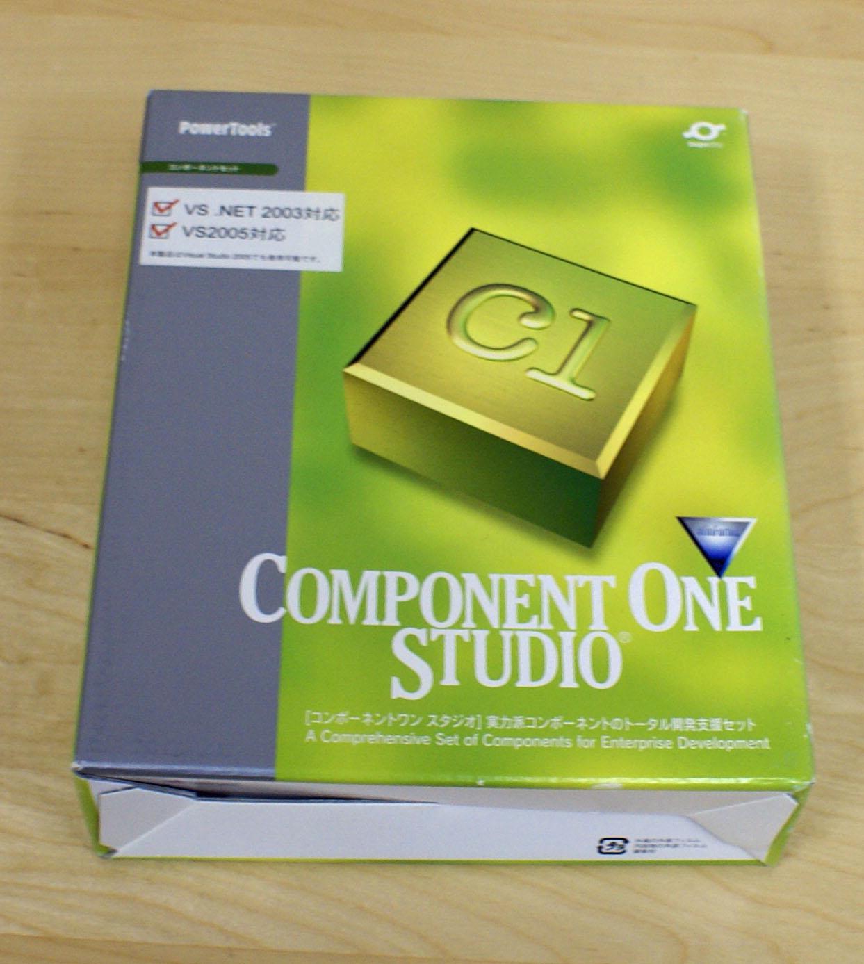 【中古品】ComponentOne Studio 2007 WinForms 1開発ライセンスパッケージ [CD-ROM] Windows