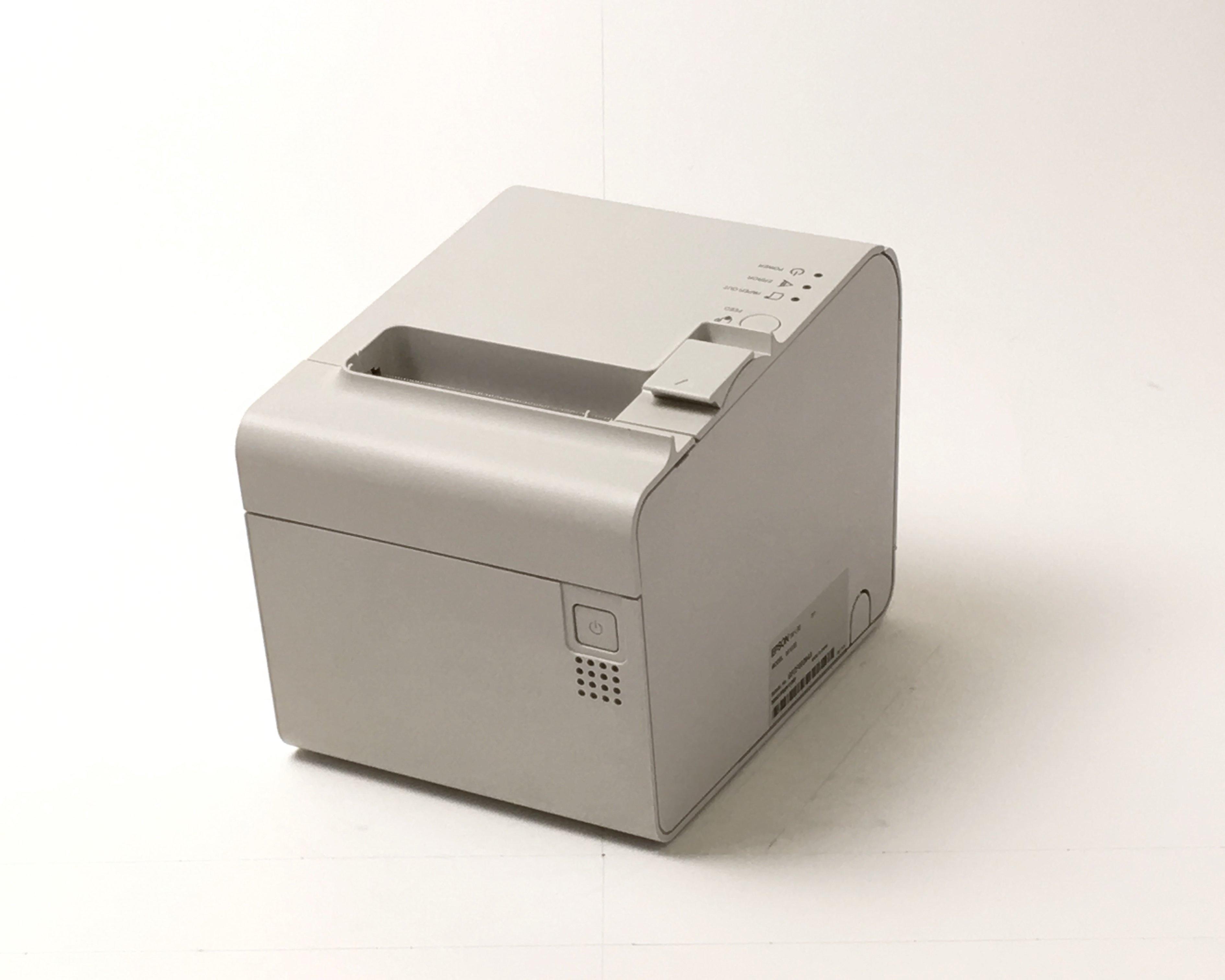 【優良中古】ラベルプリンタ EPSON TM-L90(LAN/80/58mm)ホワイト トップ画像