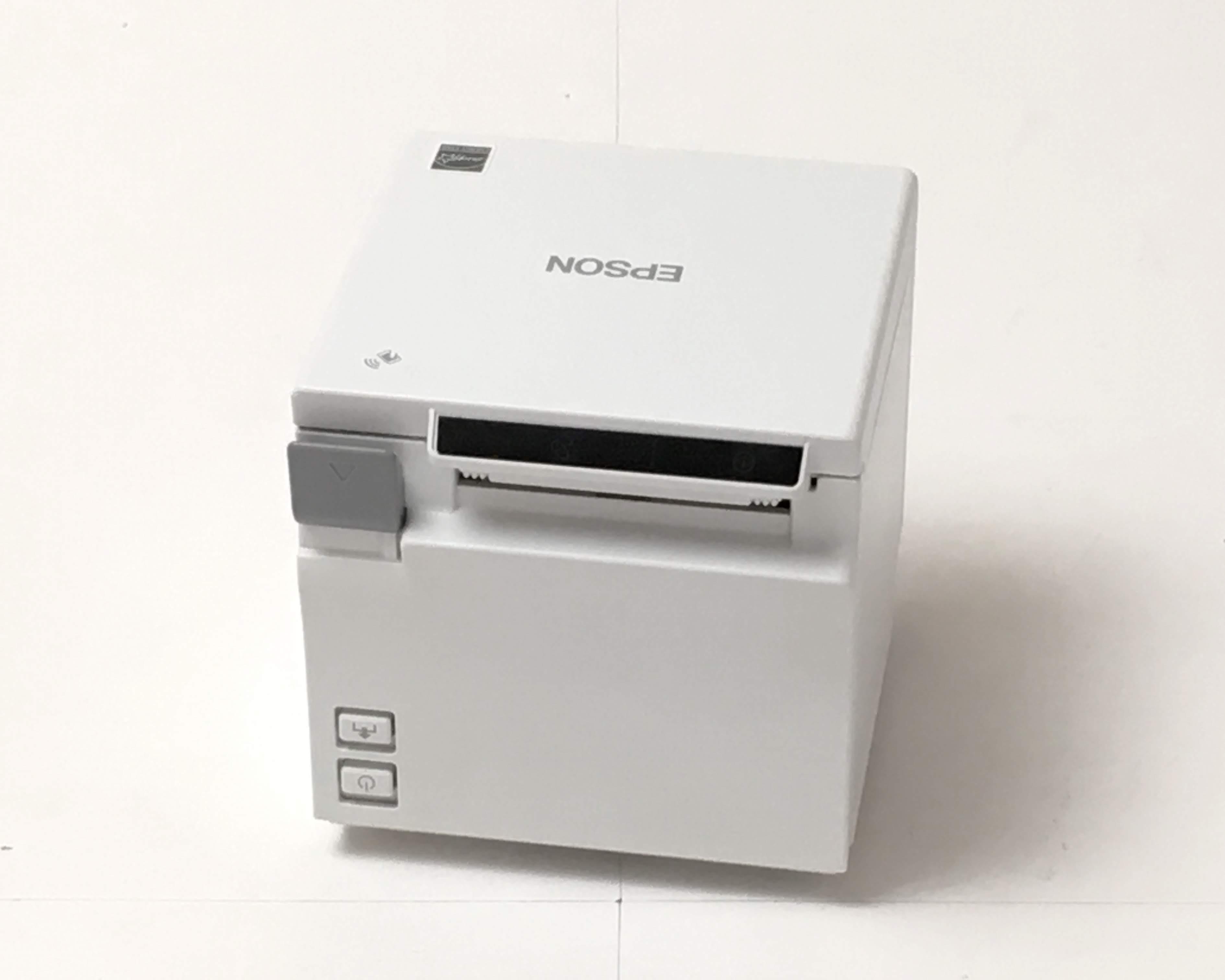 【優良中古】レシートプリンタ EPSON TM-m10(USB/LAN/58mm)ホワイト メイン画像