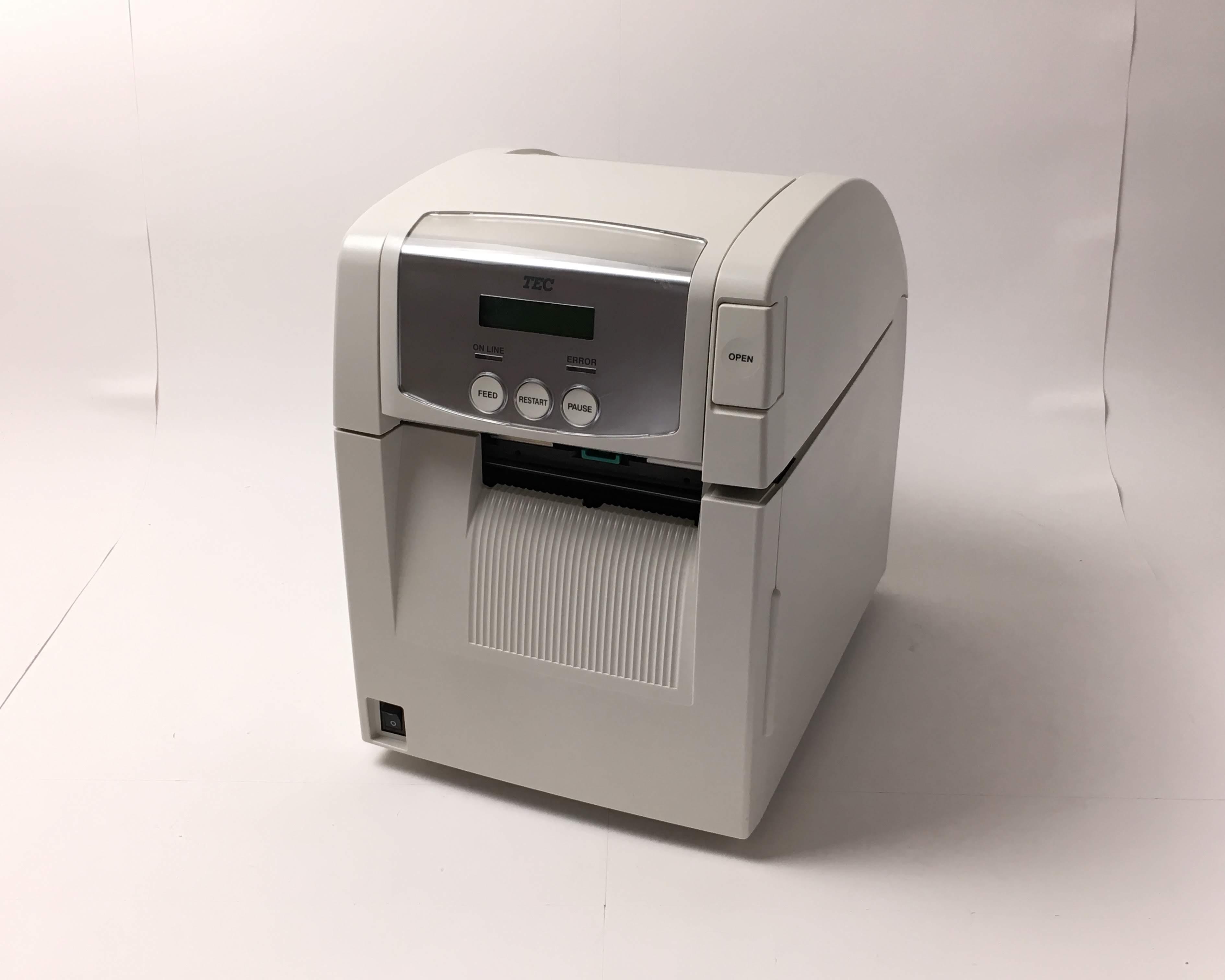 【中古】TEC バーコードプリンター B-SA4TP-TS15-R カッター付 メイン画像