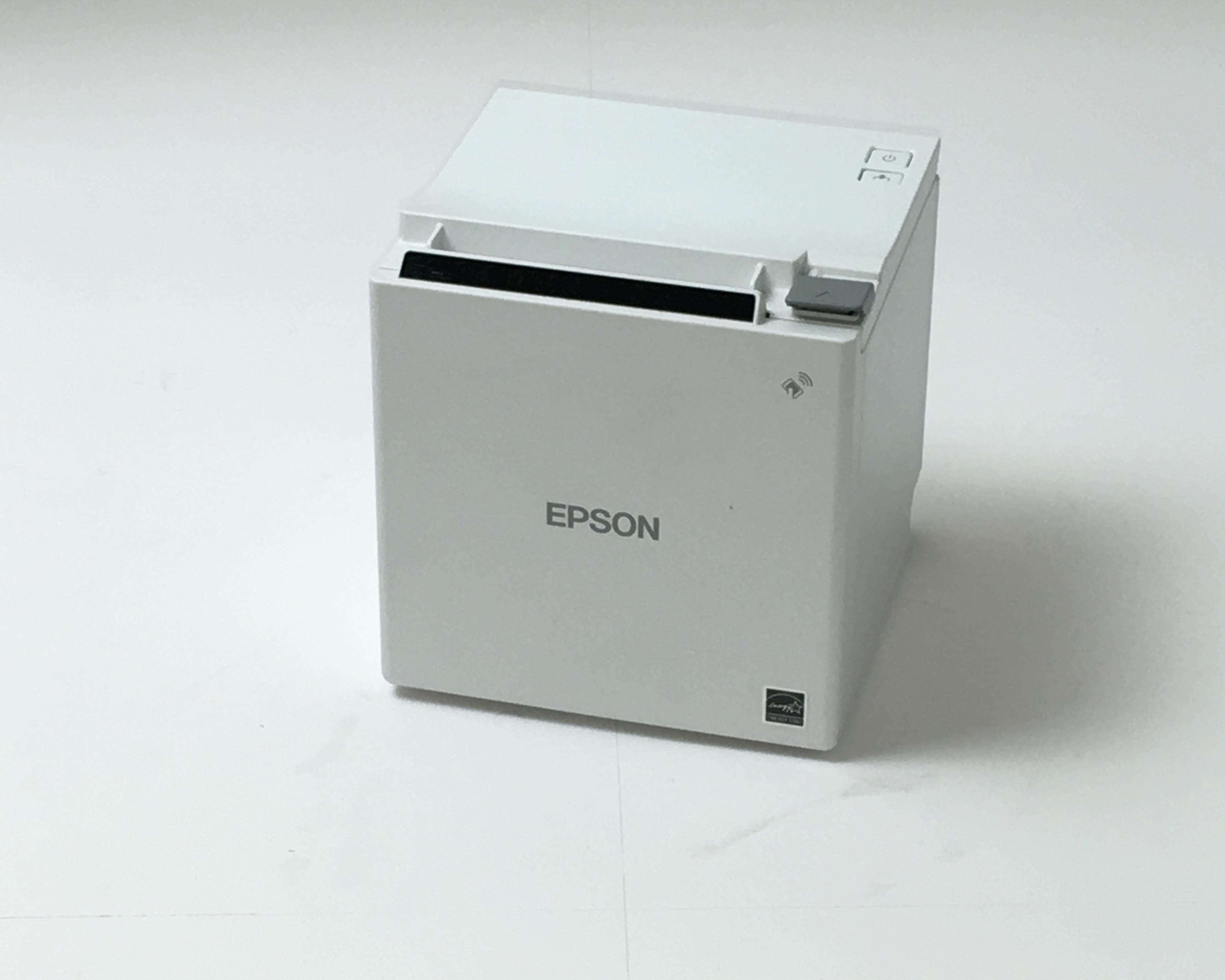 【中古】EPSON レシートプリンタ TM-M30(USB・LAN・Bluetooth/80mm)ホワイト メイン画像