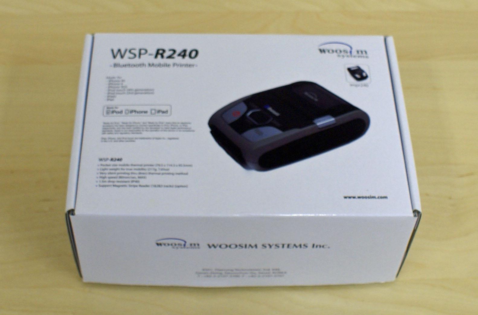 【新品】モバイルプリンター WSP-R240