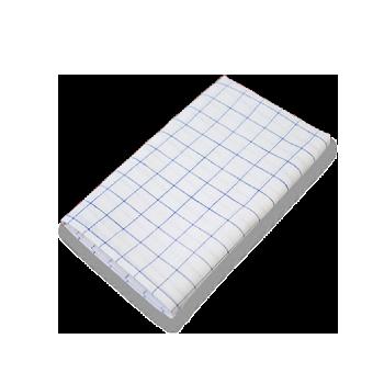 綿麻キッチンクロス,定番,日本製,チェック,青,ブルー