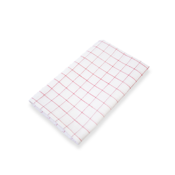 綿麻キッチンクロス,定番,日本製,チェック,赤,レッド