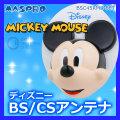 (送料無料) マスプロ(MASPRO) ディズニー BS・110度CSアンテナセット BSC45RMC-SET ミッキーマウス