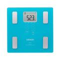 送料無料 体重計 体脂肪計 オムロン 体重体組成計 カラダスキャン ブルー デジタル体重計 HBF-214-BL