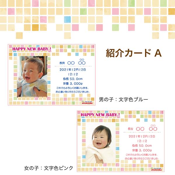 出産内祝い用 写真入り紹介カード(商品購入数分まで)