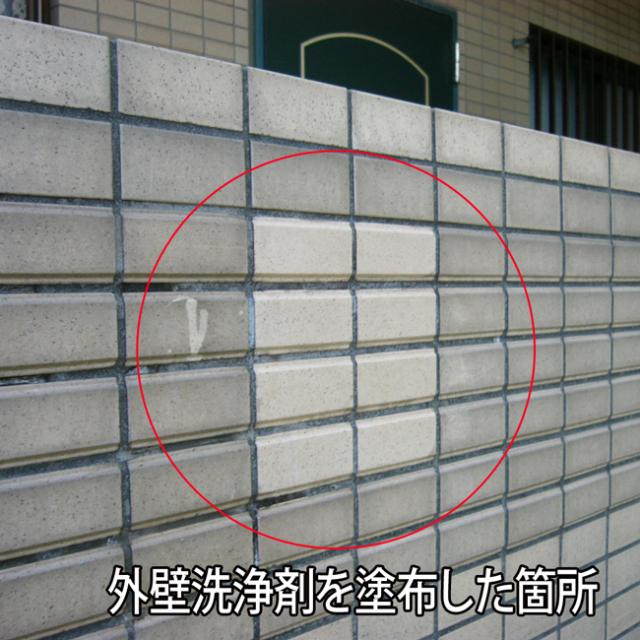外壁洗浄剤現場写真