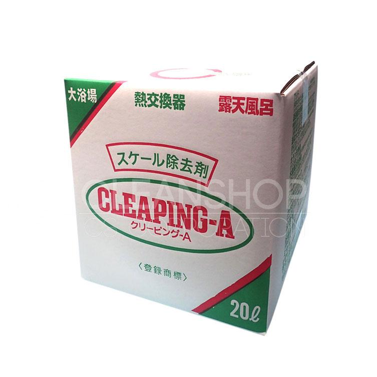 浴場、配管のスケール除去剤 クリーピングA(酸性、20リットル)【コック付】