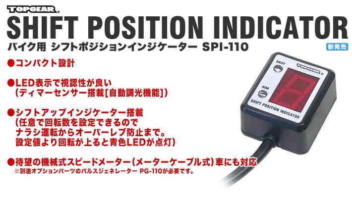 シフトポジション インジケーター(汎用SPI)