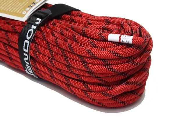 セミスタティックロープ 11mm50m   テンドン レッドEN1891 【 ロープアクセス・IRATA基準・高所作業用】