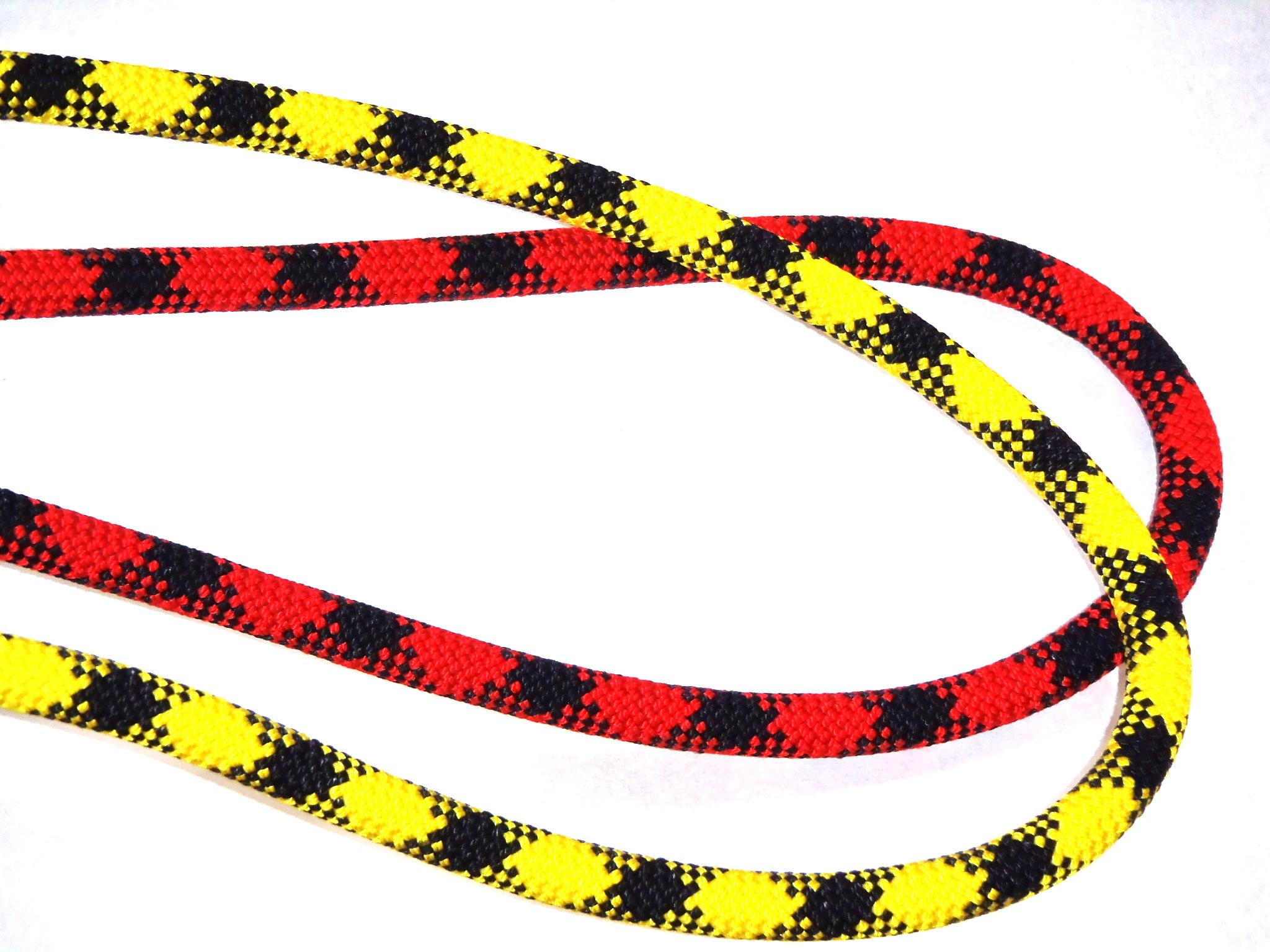 テンドン ダイナミックロープ トラスト カウズテール用2色セット 5mレッド+2.5mイエロー