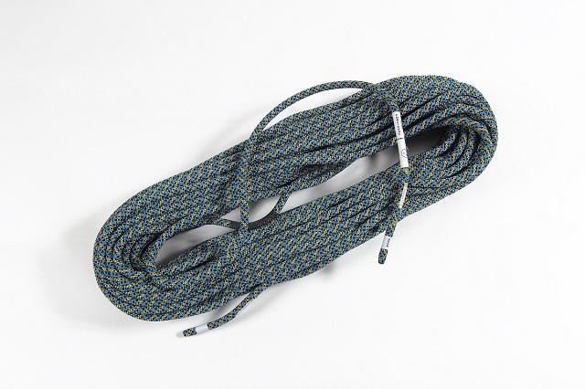 テンドン クライミングロープ アンビション 10.2mm 40m ブルー×イエロー コンプリートシールド加工