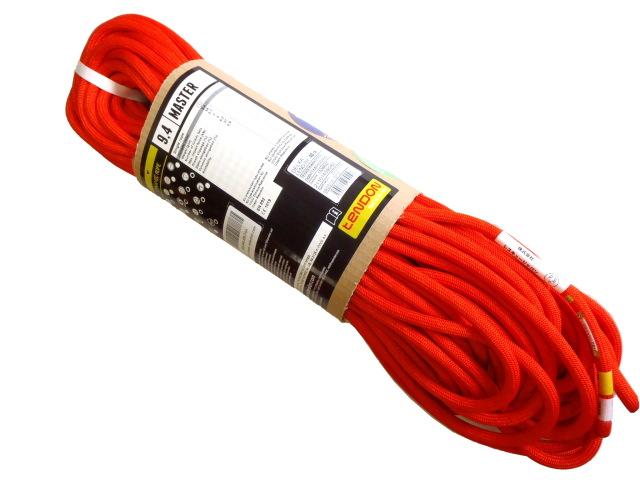 テンドン クライミングロープ マスター 9.4mm 40m ブライトオレンジ コンプリートシールド加工