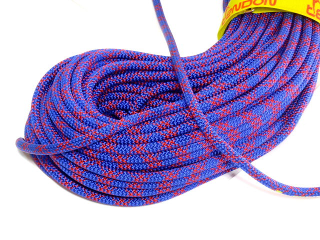 テンドン クライミングロープ アンビション ダブル 8.5mm 60m コンプリートシールド加工 ブルー
