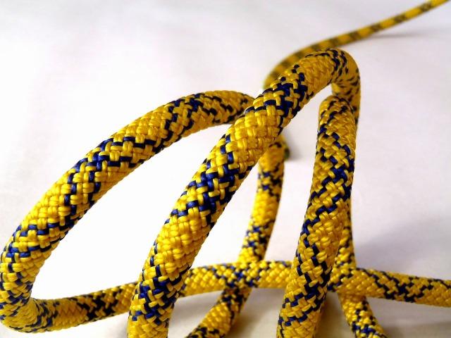 テンドン クライミングロープ アンビション ダブル 8.5mm 50m コンプリートシールド加工 イエロー
