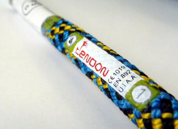 テンドン クライミングロープ アンビション 10.2mm 40m ブルー×イエロー