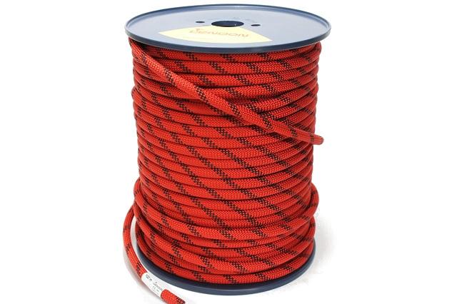 セミスタティックロープ 11mm100m テンドン レッドEN1891 【ロープアクセス・IRATA基準・高所作業用】