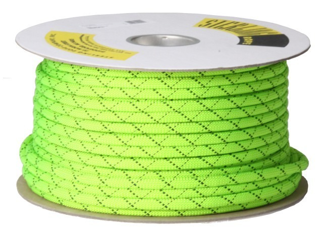 HTPスタティックロープ 11mm 100m スターリン ネオングリーン