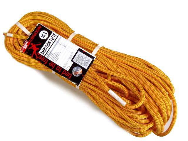 テンドン クライミングロープ アンビションTefix 10.2mm 50m イエロー コンプリートシールド加工