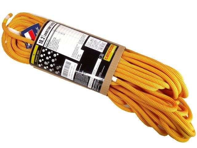 【在庫限り】テンドン クライミングロープ アンビションTefix 10.2mm 30m イエロー コンプリートシールド加工