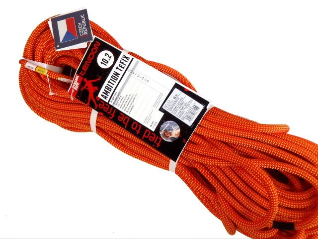 テンドン クライミングロープ アンビションTefix 10.2mm 40m オレンジ コンプリートシールド加工