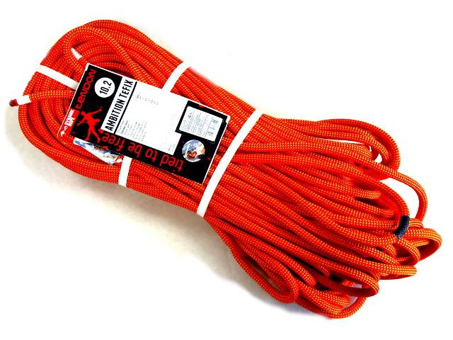 テンドン クライミングロープ アンビションTefix 10.2mm 60m オレンジ コンプリートシールド加工