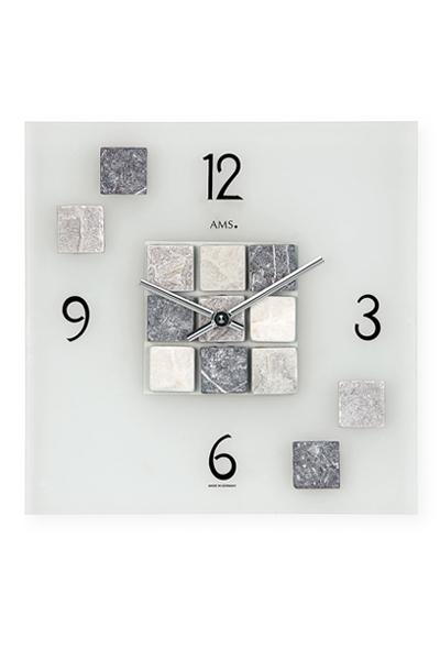 石材装飾のおしゃれなデザイン掛け時計/AMS9276