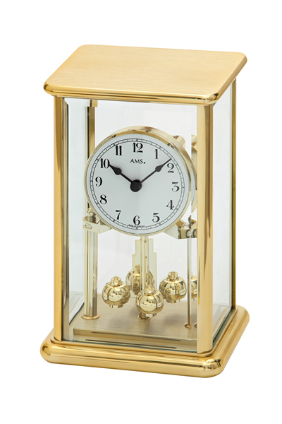 回転振り子スケルトン高級デザイン置き時計。AMS1211