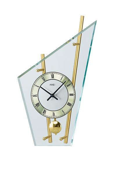 スタイリッシュなデザイン置き時計(ゴールド)AMS155