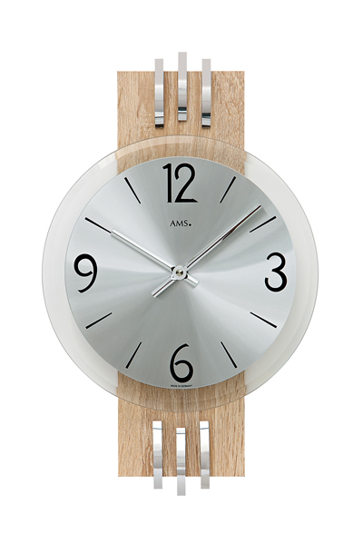 木目デザイン掛け時計/AMS9228