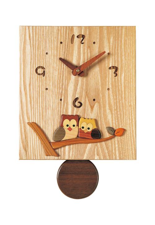 国産寄せ木象嵌時計